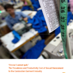 'I know I cannot quit' Prevalence and Productivity Cost of Sexual Harassment to the Cambodia Garment Industry