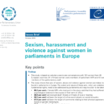 Sexism, harassment and violence against women in parliaments in Europe (2018)