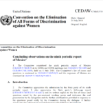 CEDAW Concluding observations on the ninth periodic report of Mexico*