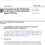 CEDAW Concluding observations on the combined seventh and eighth periodic reports of Honduras*