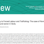 Vulnerability to Forced Labour and Trafficking: The Case of Romanian Women in the Agricultural Sector in Sicily