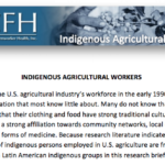 Indigenous Agricultural Workers