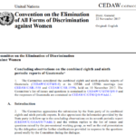 CEDAW Concluding observations on the combined eighth and ninth periodic reports of Guatemala*