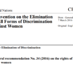 CEDAW General Recommendation No. 34 on the Rights of Rural Women