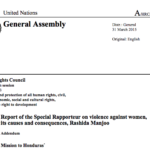Report of the Special Rapporteur on Violence Against Women, its Causes and Consequences: Mission to Honduras