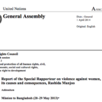 Report of the Special Rapporteur on Violence Against Women, its Causes and Consequences
