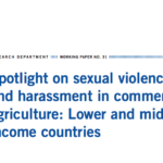 Spotlight on Sexual Violence and Harassment in Commercial Agriculture: Lower & Middle Income Countries