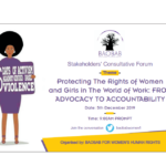 Stakeholders' Consultative Forum on Ending Sexual Harassment